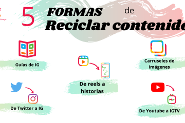 5 formas de reciclar contenido para las redes sociales